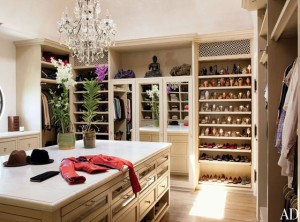 My new closet? Ha. It's Gisele's.